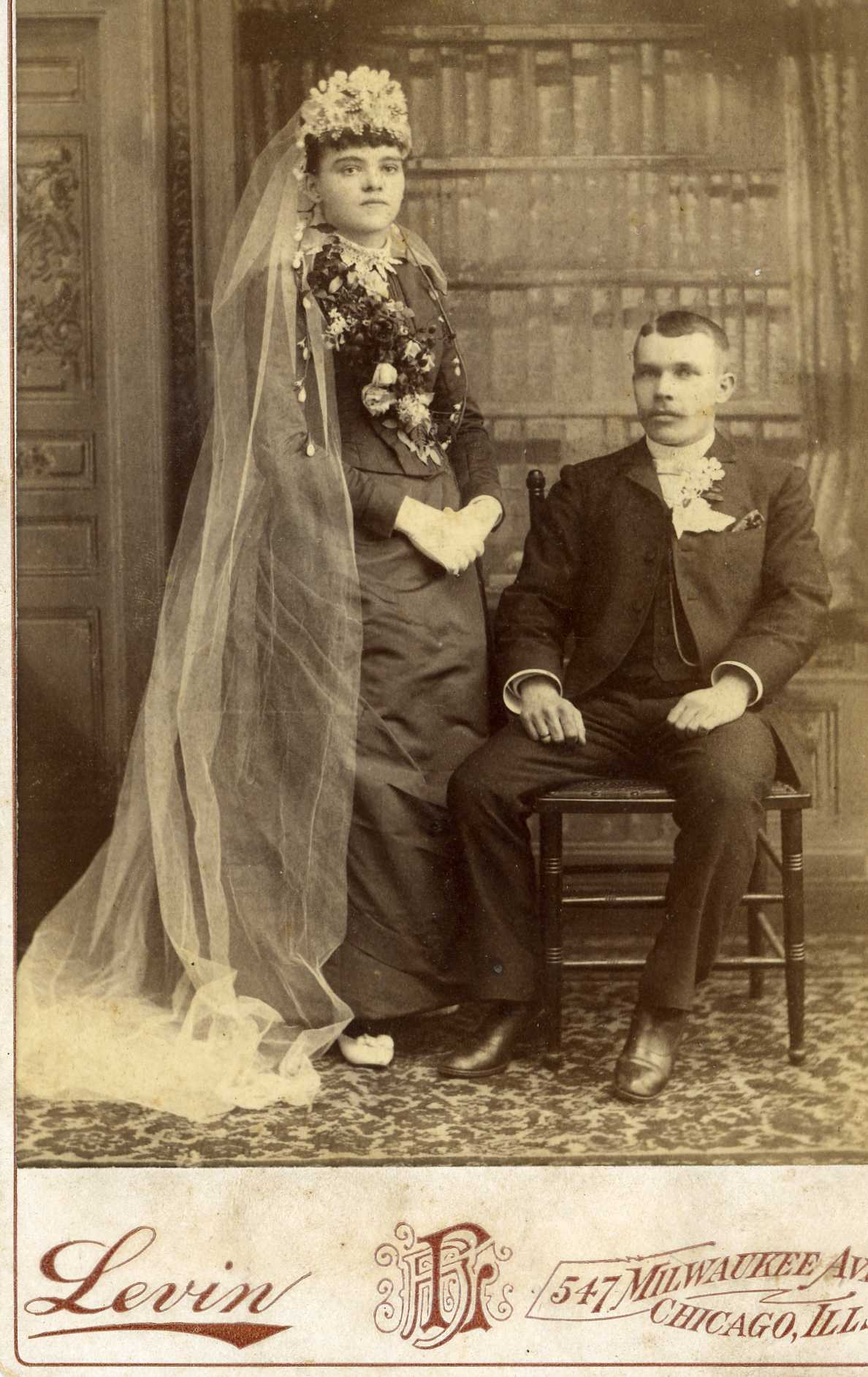 Victorian wedding bonnet who were they todays photo is also courtesy of ray jackson it shows a lovely cabinet card sized wedding portrait of a young woman and her husband junglespirit Images
