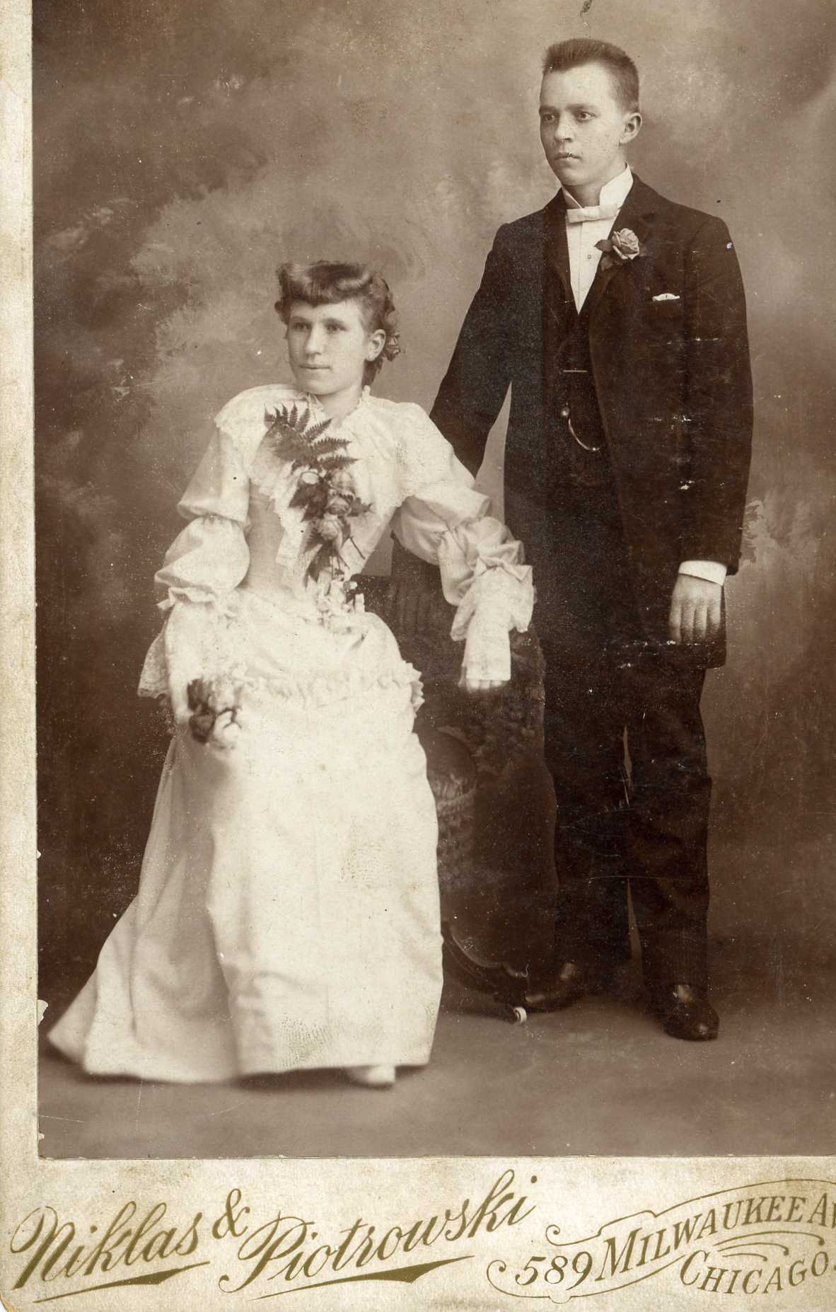 Victorian wedding photo who were they this family really must have had some economic means because this bride is wearing white we know that white dresses were a symbol of wealth because only junglespirit Images