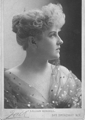 Lillian Russell circa 1880s